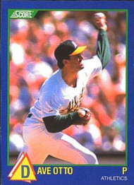 1989 Score Hottest 100 Rising Stars #60 Dave Otto NM-MT Oakland Athletics