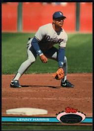 1991 Stadium Club #65 Lenny Harris VG Los Angeles Dodgers
