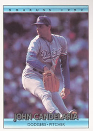 1992 Donruss #125 John Candelaria VG Los Angeles Dodgers
