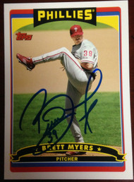 Brett Myers Autographed 2006 Topps Phillies Fan Appreciation Day SGA #