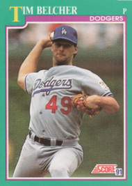 1991 Score #187 Tim Belcher VG Los Angeles Dodgers