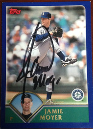 Jamie Moyer Autographed 2003 Topps #122