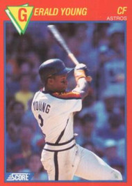 1989 Score Baseball's 100 Hottest Players #72 Gerald Young NM-MT Houston Astros