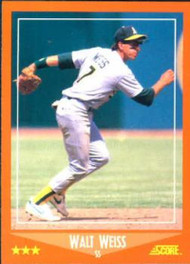 1988 Score Rookie and Traded #102T Walt Weiss NM-MT  RC Rookie Oakland Athletics