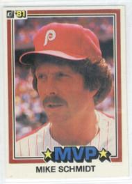 1981 Donruss #590 Mike Schmidt MVP NM-MT Philadelphia Phillies