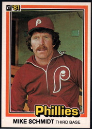 1981 Donruss #11 Mike Schmidt NM-MT Philadelphia Phillies