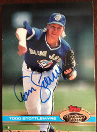 Todd Stottlemyre Autographed 1991 Stadium Club #564