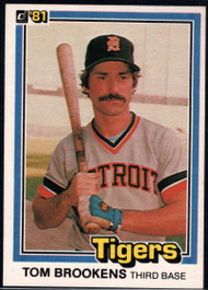 1981 Donruss #6 Tom Brookens NM-MT Detroit Tigers