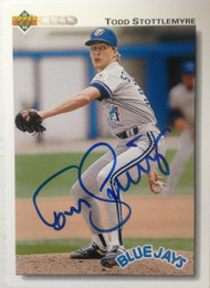 Todd Stottlemyre Autographed 1992 Upper Deck #371