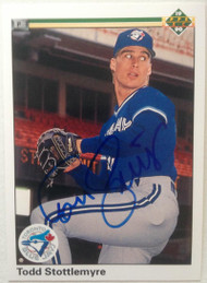 Todd Stottlemyre Autographed 1990 Upper Deck  #692
