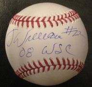 Jimy Williams Autographed ROMLB Baseball 2008 WSC