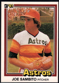 1981 Donruss #21 Joe Sambito NM-MT Houston Astros