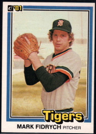 1981 Donruss #8 Mark Fidrych NM-MT Detroit Tigers