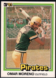 1981 Donruss #17 Omar Moreno NM-MT Pittsburgh Pirates