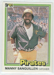1981 Donruss #14 Manny Sanguillen NM-MT Pittsburgh Pirates