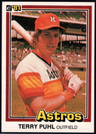 1981 Donruss #24 Terry Puhl NM-MT Houston Astros