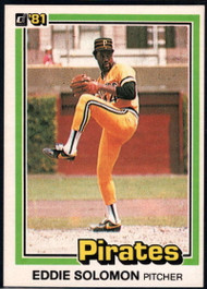 1981 Donruss #16 Eddie Solomon NM-MT Pittsburgh Pirates