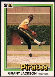 1981 Donruss #15 Grant Jackson NM-MT Pittsburgh Pirates