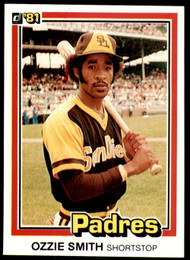 1981 Donruss #1 Ozzie Smith NM-MT San Diego Padres
