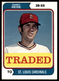 1974 Topps Traded #51T Bob Heise VG St. Louis Cardinals