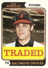 1974 Topps Traded #59T Ross Grimsley VG Baltimore Orioles