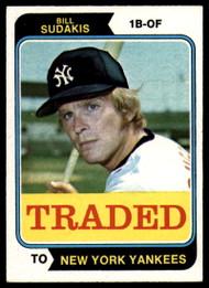 1974 Topps Traded #63T Bill Sudakis VG New York Yankees