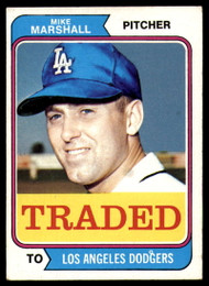 1974 Topps Traded #73T Mike Marshall VG Los Angeles Dodgers