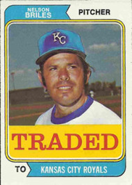 1974 Topps Traded #123T Nelson Briles VG Kansas City Royals