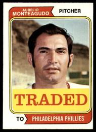1974 Topps Traded #139T Aurelio Monteagudo VG Philadelphia Phillies