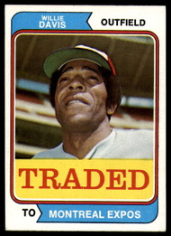 1974 Topps Traded #165T Willie Davis VG Montreal Expos