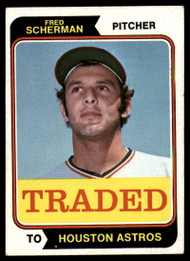 1974 Topps Traded #186T Fred Scherman VG Houston Astros