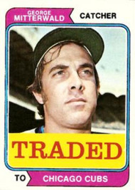 1974 Topps Traded #249T George Mitterwald VG Chicago Cubs