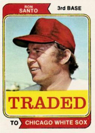 1974 Topps Traded #270T Ron Santo VG Chicago White Sox