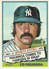 1976 Topps Traded #27T Ed Figueroa VG New York Yankees