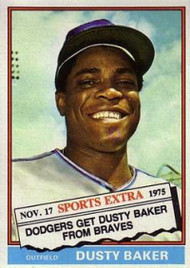 1976 Topps Traded #28T Dusty Baker VG Los Angeles Dodgers