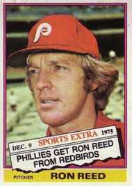 1976 Topps Traded #58T Ron Reed VG Philadelphia Phillies