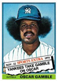 1976 Topps Traded #74T Oscar Gamble VG New York Yankees
