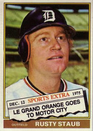 1976 Topps Traded #120T Rusty Staub VG Detroit Tigers