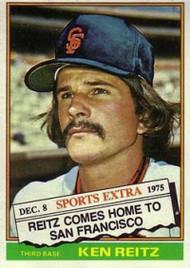 1976 Topps Traded #158T Ken Reitz VG San Francisco Giants