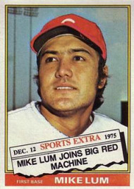 1976 Topps Traded #208T Mike Lum VG Cincinnati Reds