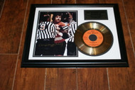 "Dave ""The Hammer""Schultz Autographed 8 x 10 Photo & Gold 45 Record of The Penalty Box"