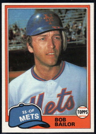 1981 Topps Traded #732 Bob Bailor NM-MT New York Mets