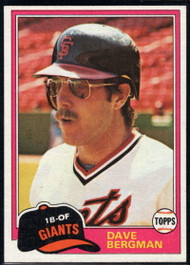 1981 Topps Traded #734 Dave Bergman NM-MT San Francisco Giants