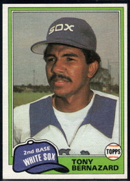 1981 Topps Traded #735 Tony Bernazard NM-MT Chicago White Sox