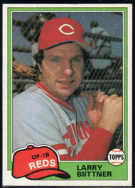 1981 Topps Traded #736 Larry Biittner NM-MT Cincinnati Reds