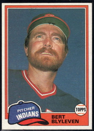 1981 Topps Traded #738 Bert Blyleven NM-MT Cleveland Indians