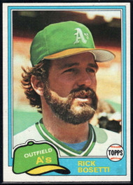 1981 Topps Traded #741 Rick Bosetti NM-MT Oakland Athletics