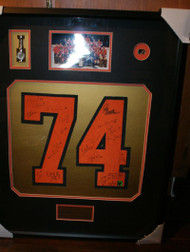 1973-74 Flyers Stanley Cup Champions Signed Numbers Team Photo Shadow Box Framed