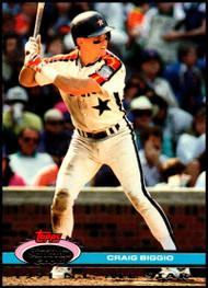 1992 Stadium Club Dome #16 Craig Biggio VG Houston Astros