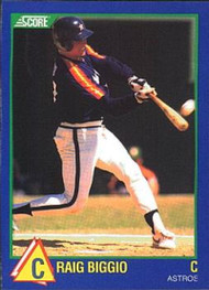 1989 Score Hottest 100 Rising Stars #98 Craig Biggio NM-MT Houston Astros